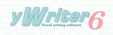 Writing Software: yWriter by Spacejock