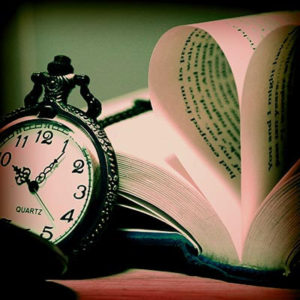 pocket watch book heart
